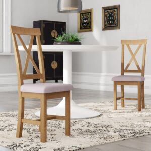 Apostolos Solid Wood Dining Chair August Grove