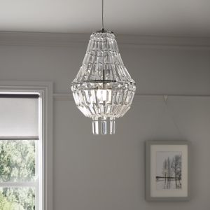 Asuia Chrome effect Pendant ceiling light