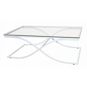 Austin Coffee Table Canora Grey Frame Colour: Powder-coated white