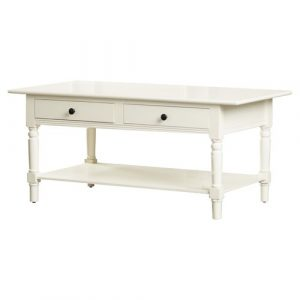 Banes Coffee Table with Storage Three Posts Colour: Distressed Cream