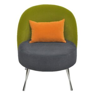 Barrel Chair Happy Barok Upholstery Colour: Orange, grey and green