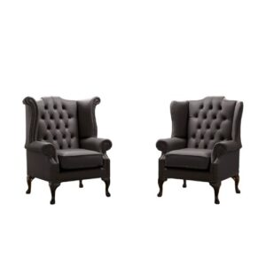 Belfield 2 Piece Wingback Chair Set Astoria Grand Upholstery Colour: Havannah