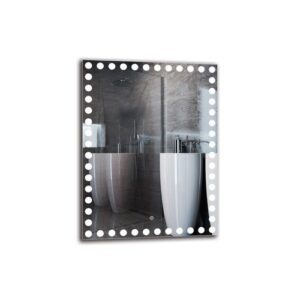 Bess Bathroom Mirror Metro Lane Size: 80cm H x 60cm W