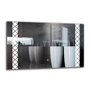 Beula Bathroom Mirror Metro Lane Size: 50cm H x 80cm W