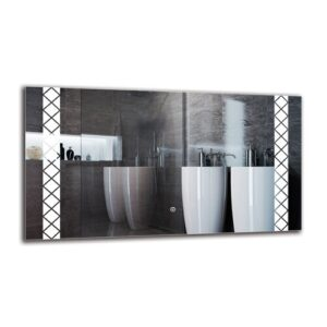 Beula Bathroom Mirror Metro Lane Size: 50cm H x 90cm W