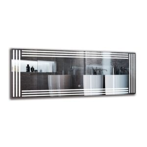 Biloxi Bathroom Mirror Metro Lane Size: 40cm H x 100cm W