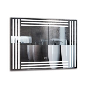 Biloxi Bathroom Mirror Metro Lane Size: 40cm H x 50cm W