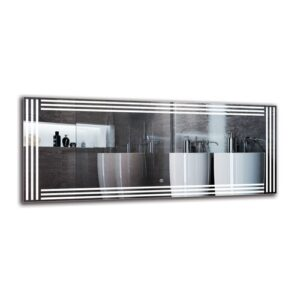Biloxi Bathroom Mirror Metro Lane Size: 50cm H x 120cm W