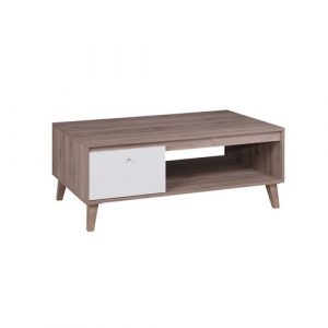 Bloom Coffee Table with Storage Norden Home Colour: Dark San Remo