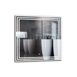 Boutant Bathroom Mirror Metro Lane Size: 60cm H x 60cm W