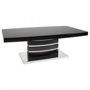 Bram Coffee Table Wade Logan Colour (Table Top): Black