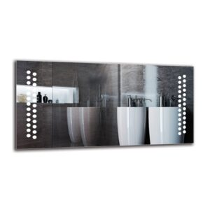 Bricher Bathroom Mirror Metro Lane Size: 50cm H x 100cm W