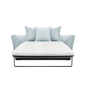 Bullock 2 Seater Fold out Sofa Bed Zipcode Design Upholstery Colour: Light Blue