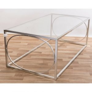 Burrill Metal Glass Top Coffee Table Canora Grey Colour: Silver