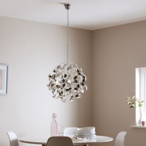 Caladane Chrome effect 4 Lamp Pendant ceiling light