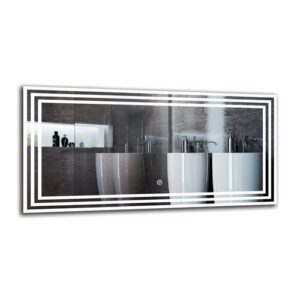 Castine Bathroom Mirror Metro Lane Size: 40cm H x 80cm W