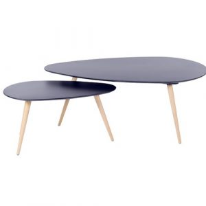 Chase 2 Piece Coffee Table Set Norden Home Size: H45 x L116 x W46cm, Colour (Table Top): Grey