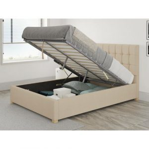Chevalier Upholstered Ottoman Bed Zipcode Design Size: Single (3'), Colour: Cream