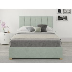 Chevell Upholstered Ottoman Bed Zipcode Design Colour: Eau De Nil, Size: Small Double (4')