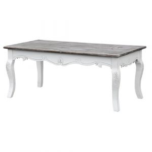 Circee Coffee Table Lily Manor Colour (Table Base): White, Colour (Table Top): Dark Brown