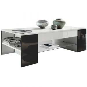 Clip Coffee Table Vladon Frame colour: Black