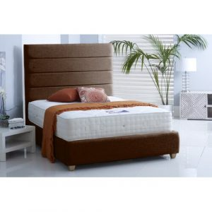 Clover Upholstered Bed Frame Brayden Studio Size: Double (4'6), Colour: Brown