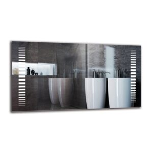 Davlin Bathroom Mirror Metro Lane Size: 60cm H x 110cm W