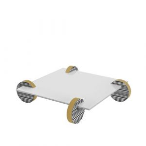 Deracy Coffee Table Wade Logan Colour (Table Base): Gold