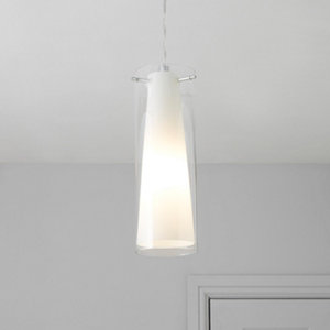 Dimonika White Chrome effect Pendant ceiling light