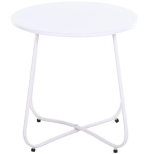 Dixville Side Table Sol 72 Outdoor Colour: White