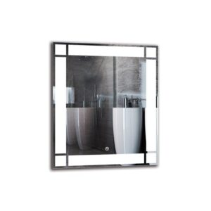 Elwyn Bathroom Mirror Metro Lane Size: 60cm H x 50cm W