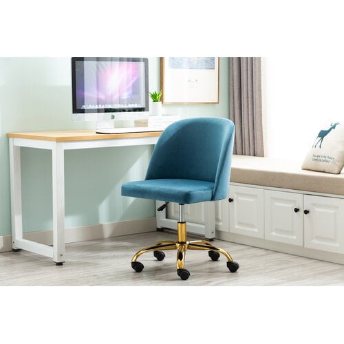 Eneas Ergonomic Task Chair Blue Elephant Upholstery Colour: Blue