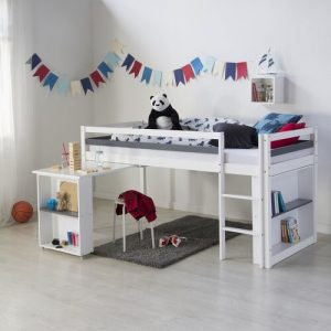 Estes European Single Mid Sleeper Bed with Shelves and Bookcase Isabelle & Max