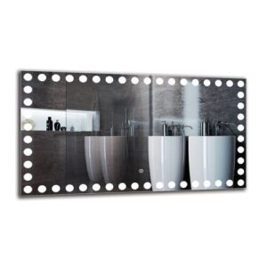 Everdene Bathroom Mirror Metro Lane Size: 50cm H x 90cm W