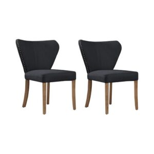 Fabric Upholstered Dining Chair Rosalind Wheeler Colour (Upholstery): Black