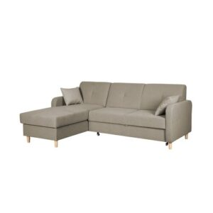 Fire Corner Sofa Bed Home & Haus Orientation: Left Hand Facing, Upholstery Colour: Beige