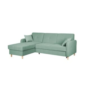 Fire Corner Sofa Bed Home & Haus Orientation: Left Hand Facing, Upholstery Colour: Green
