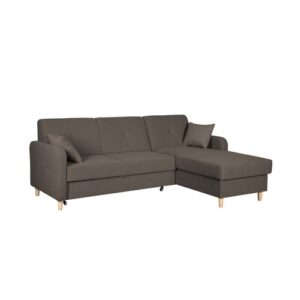 Fire Corner Sofa Bed Home & Haus Orientation: Right Hand Facing, Upholstery Colour: Brown