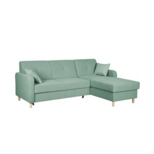 Fire Corner Sofa Bed Home & Haus Orientation: Right Hand Facing, Upholstery Colour: Green