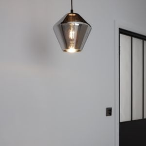 Flachee Smoked effect Pendant ceiling light