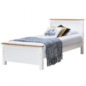 Franklin Wooden Bed Frame Brambly Cottage Colour: White, Size: Single (3'), Mattress Type: No Mattress Required
