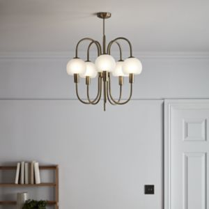 Gammont Antique brass effect 5 Lamp Pendant ceiling light