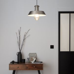 Genly Silver effect Pendant ceiling light
