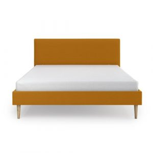 Gigi Upholstered Bed Frame Fjørde & Co Colour: Gold, Size: 140 x 200 cm