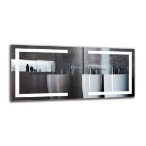 Gracie-May Bathroom Mirror Metro Lane Size: 50cm H x 110cm W