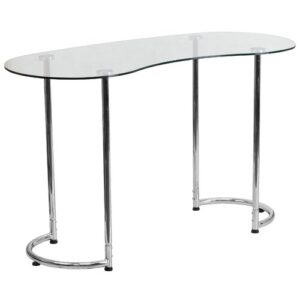 Gros Semi-Circle Desk Blue Elephant