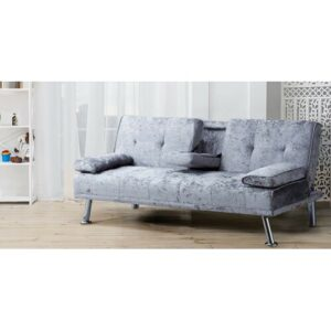 Halie 3 Seater Clic Clac Sofa Bed Willa Arlo Interiors Upholstery Colour: Steel