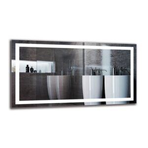 Harvir Bathroom Mirror Metro Lane Size: 60cm H x 110cm W