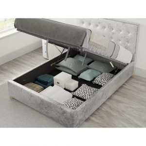 Homeland Upholstered Ottoman Bed August Grove Size: Double (4'6), Colour: Pearl