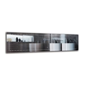 Hraztan Bathroom Mirror Metro Lane Size: 40cm H x 140cm W